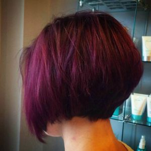 burgungy stacked style