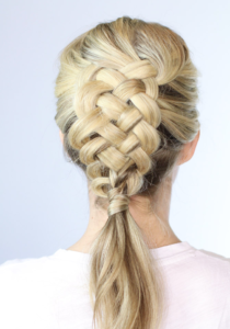 five strand dutch braid