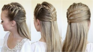 half up mermaid braid