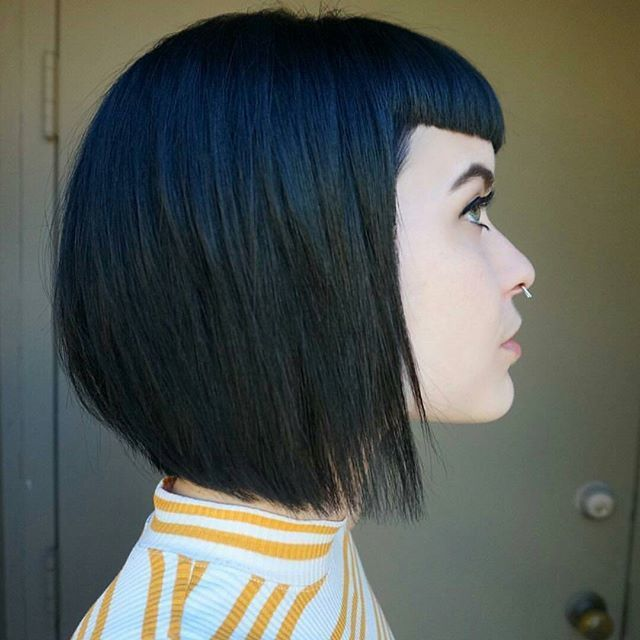Pairing These Bangs With An Inverted Bob Makes For A Deliberate Style That Never Looks Lazy Super Short Baby Are Bold Choice Come