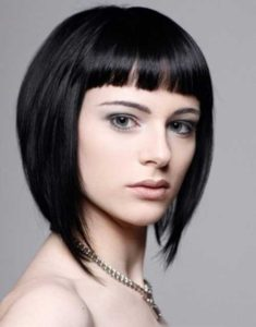 inverted bob with short bangs
