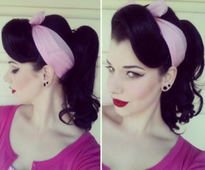 pin up ponytail