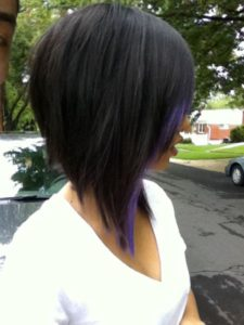 purple streak bob