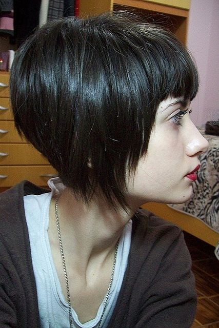 15short Choppy Bob With Bangs