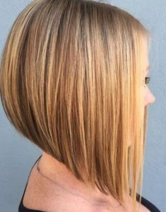 sleek blonde bob
