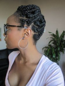 tight updo twist