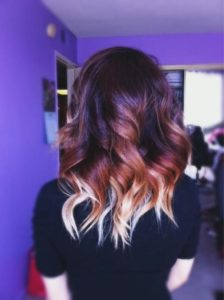 Auburn With Blonde Ombre