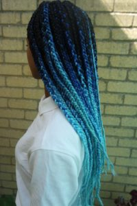 Blue Ombre Box Braids