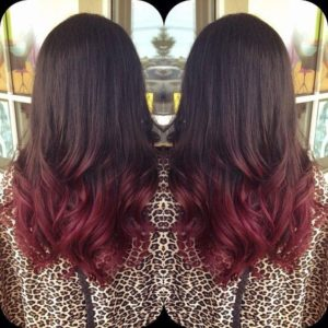 Dark Brunette With Cherry Ombre