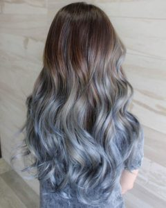 Denim Blue Pastel Ombre