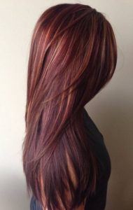 Mahogany with golden copper highlights