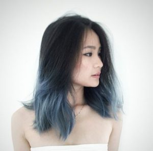 Muted Blue Grey Ombre