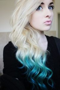 Platinum With Aqua Ombre