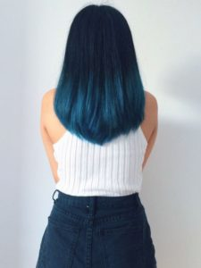 Subtle Steely Blue Ombre
