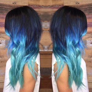 Triple Blue Ombre