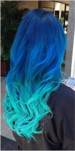 aqua ombre over royal blue
