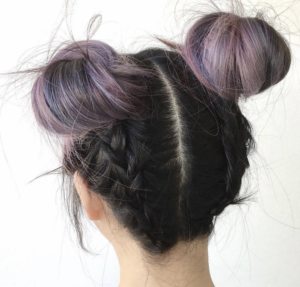 back braided buns