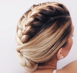 french braid mohawk