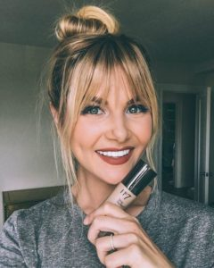 fringe bangs with strong corners
