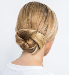 simple spiral braid bun