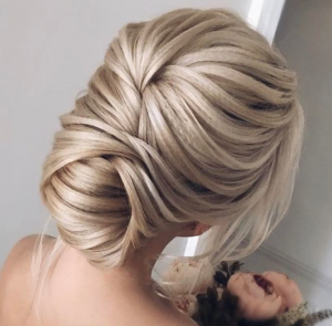 softly twisted updo