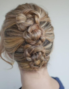triple braid buns