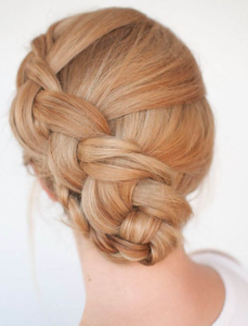 twist braided updo