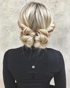twisted double buns