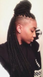Box Braids With Undercut