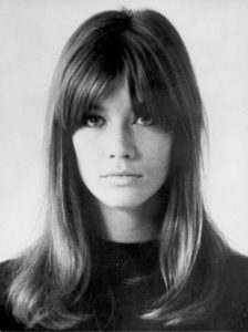 Mid Length Cut With Centre Parted Bangs