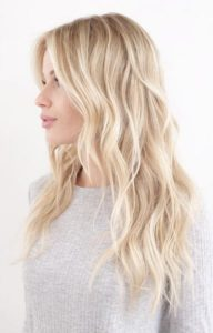 Pale Butter Blonde Balayage