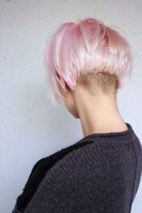 Short Bob With Shaved Nape
