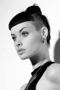 Side Shave With Short Bangs