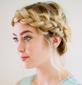 loose dutch crown braid