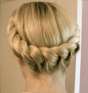 two strand crown braid