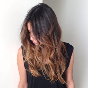 Brown Ombre Waves