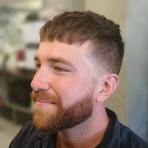 20 different and trendy types of haircuts for men named after the famous leader of the roman empire the caesar haircut has a distinctive fringe of hair thats cut straight across the forehead solutioingenieria Gallery