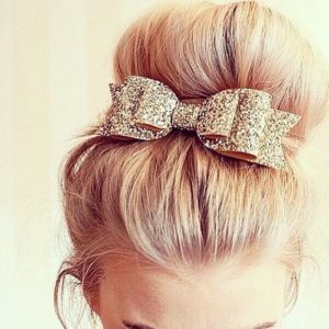 Chic Bun With Bow Accessory