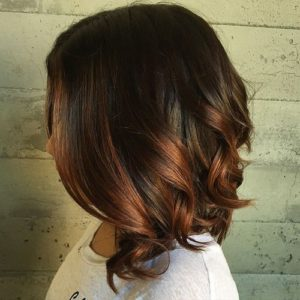 Chocolate Lob With Auburn
