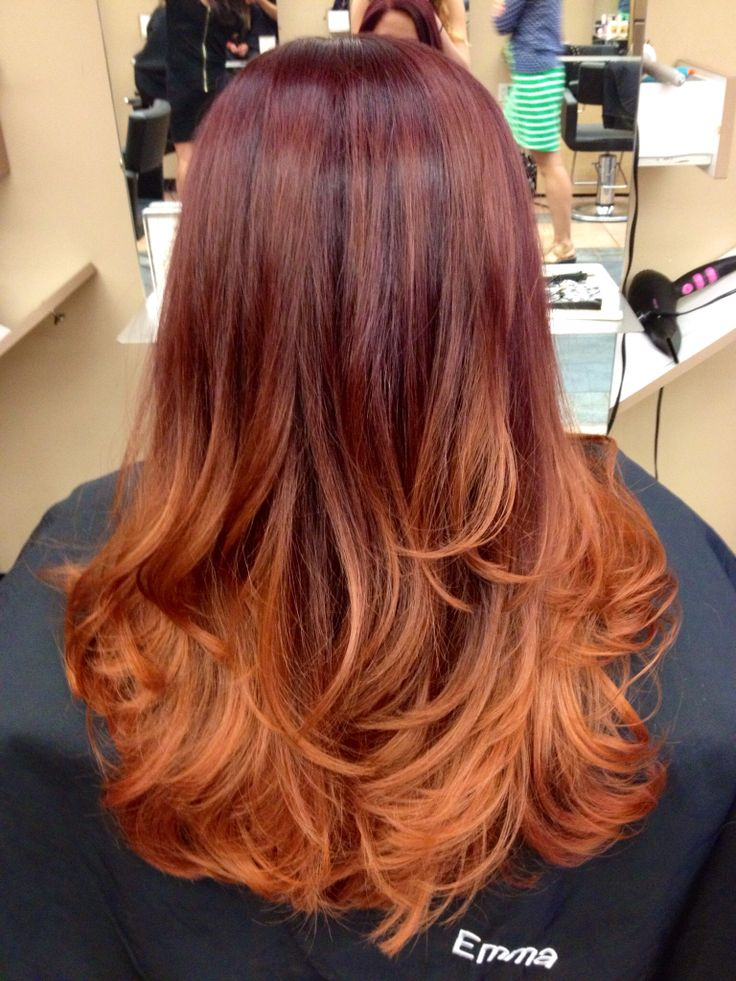 Natural Red Hair Fade To Brown