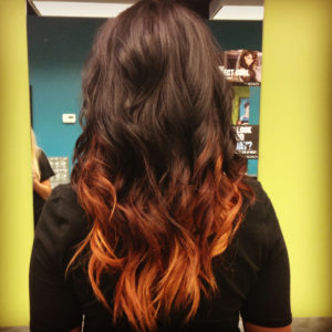 Copper on Brunette Ombre