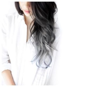 Dipped silvery blue ends