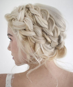 Double Braid Headband Updo