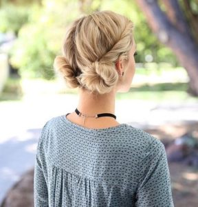 Double twisted buns