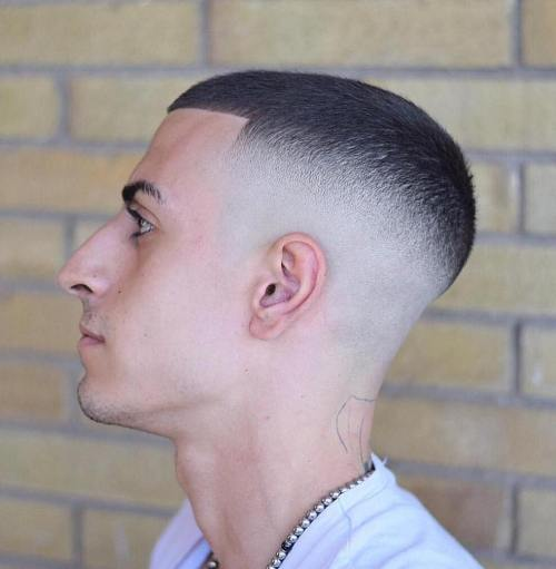 30 high and tight haircuts for classic clean cut men this high and tight haircut actually features a lower fade than some of the military examples but its still quite a high fade compared to mens haircuts solutioingenieria Gallery