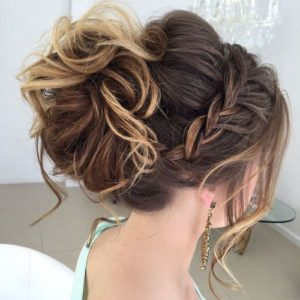Loose Bun With Braided headband