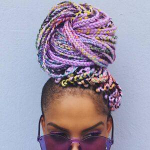 Pastel box braids