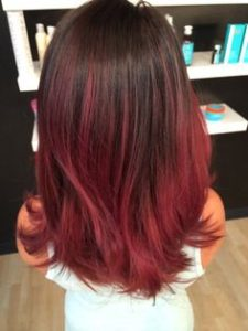 Ruby Red Ombre