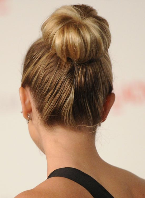 hair buns styles long hair 35 and easy hairstyles for haired 7588 | Simple Ballerina Bun