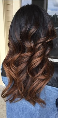 These Luxurious Curls Provide The Perfect Canvas For Showing Off A Warm Brunette Ombre Hair Color